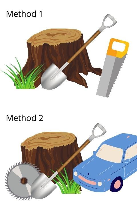 how to remove a tree stump infographic