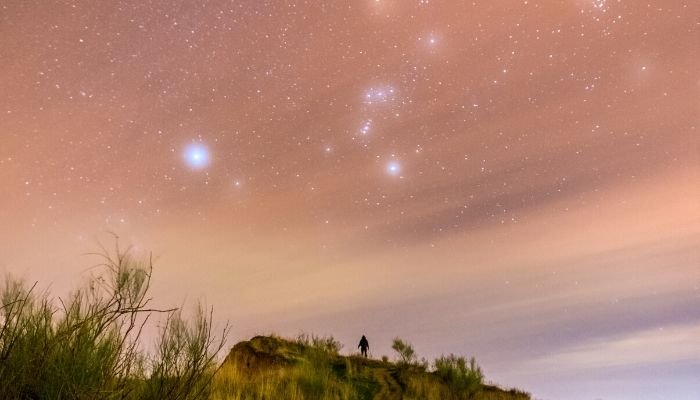 orion constellation from Earth