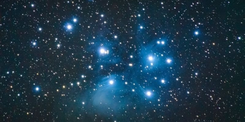 pleiades starseed, a photo of the pleaides constellation