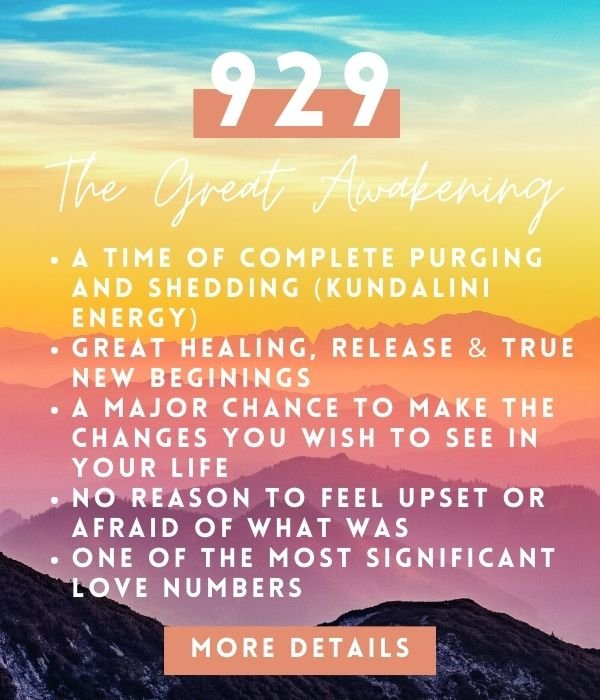 the spiritual meaning of angel number 929