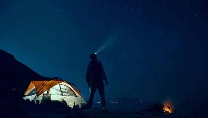 stargazing in a tent under the stars bucket list idea