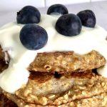 No Flour! Healthy Blueberry Pancakes