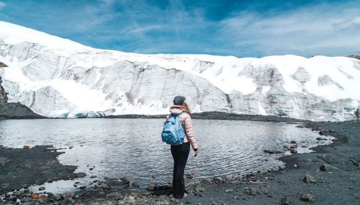 hiking a glacier as part of a bucket list adventure
