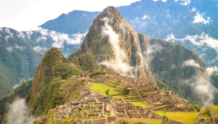the end of the inca trail, machu picchu unesco world heritage site