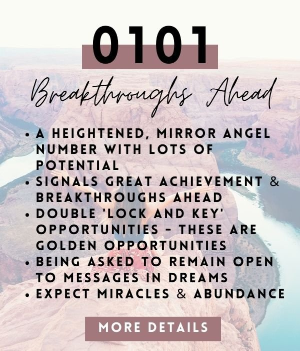 meaning of angel number 0101 in spirituality