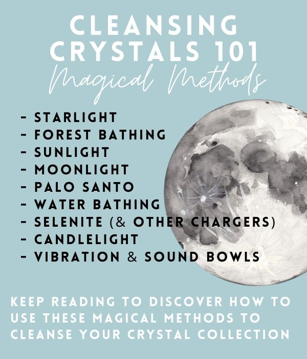 how to cleanse crystals 101